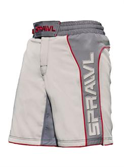 Sprawl Fusion II Stretch Series Grey and Red MMA Shorts